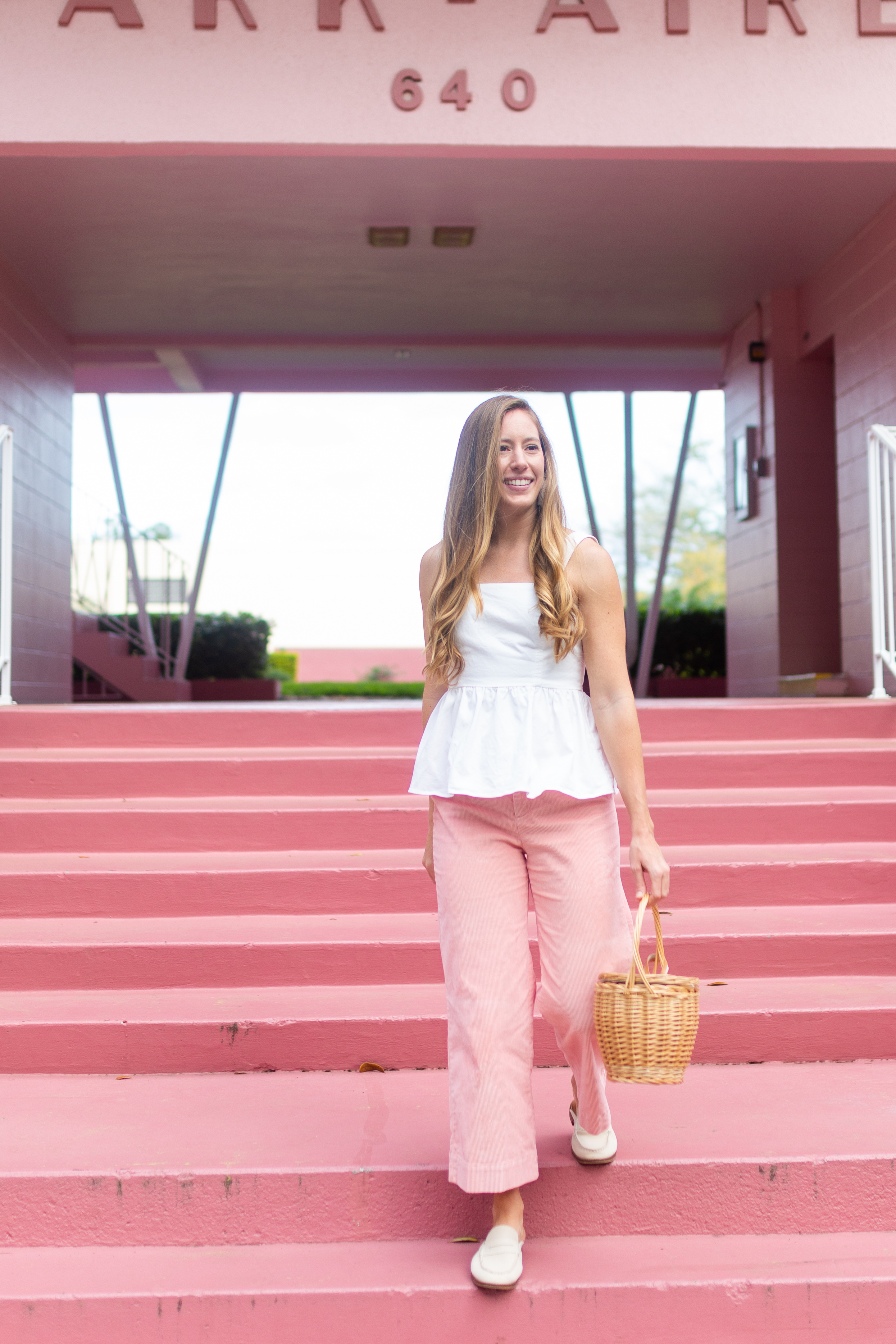 How to Wear Wide Leg Pants / Colorful and Casual Wide Leg Pants for Spring / How to Style Wide Leg Pants for Spring / Peplum Top - Sunshine Style, A Florida Fashion and Lifestyle blog by Katie