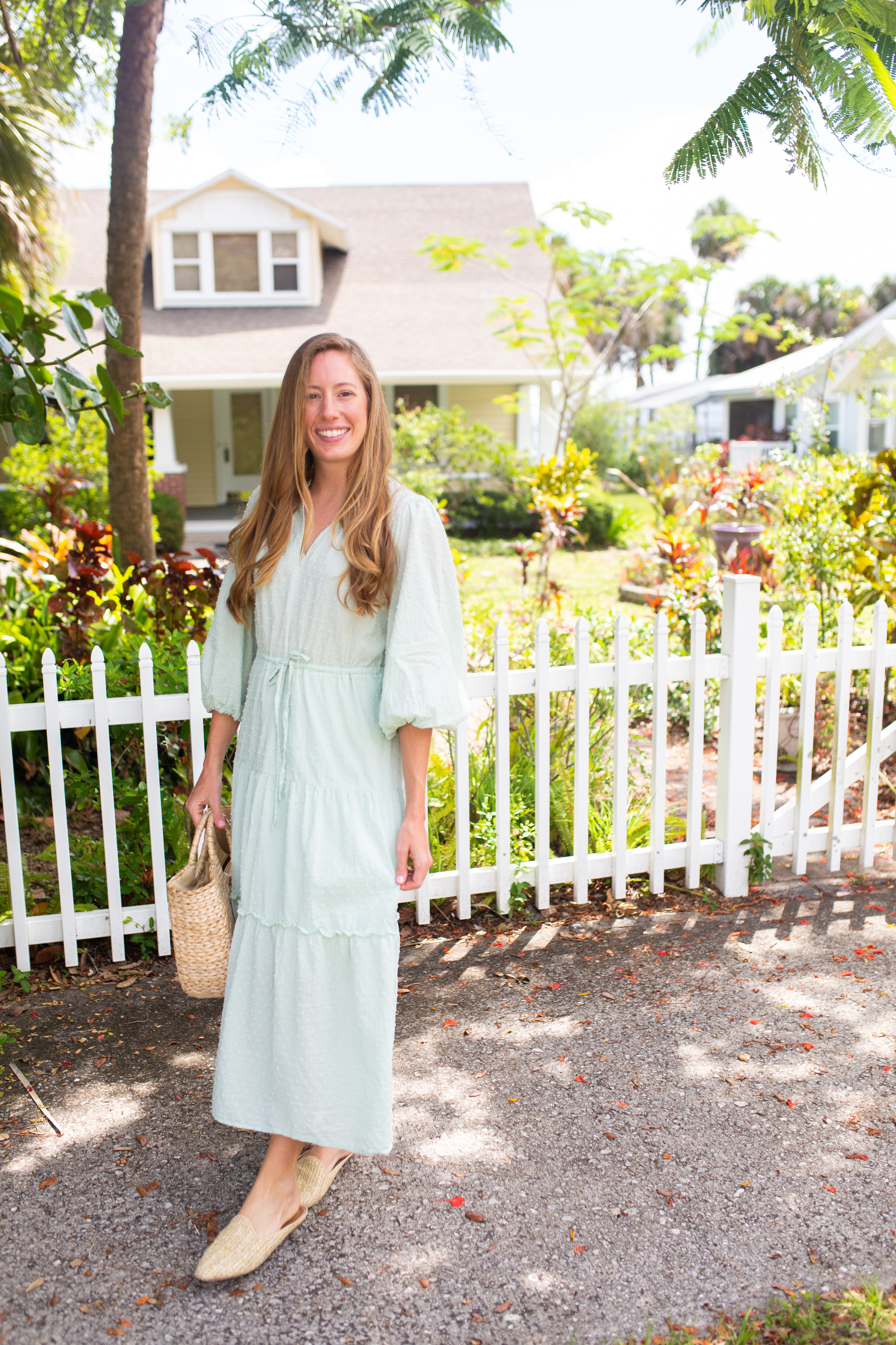 The Perfect Transition Dress from Spring to Summer / How to Style a Maxi Dress for Spring / Warm Weather Outfits / Casual Maxi Dress / Spring Outfit Inspiration / Summer Maxi Dress / Blouse Sleeves Dress - Sunshine Style, A Florida Based Style and Travel Blog