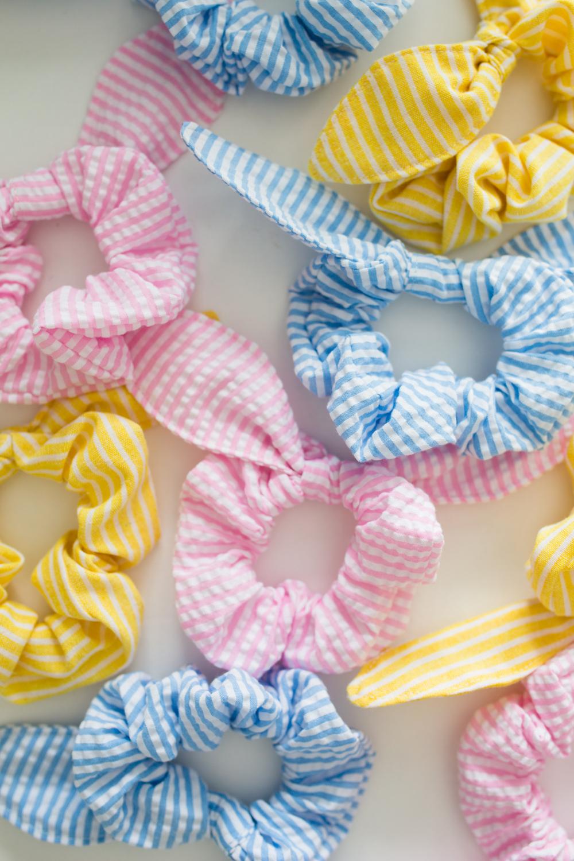hair ties in pastel colors