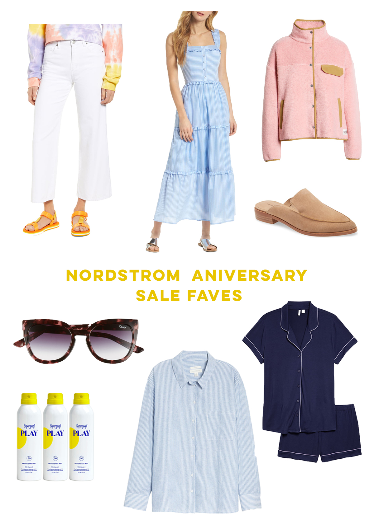 Nordstrom Anniversary Sale Favorites 2020 / Matching Pajama Set / Gal Meets Glam Dress / Backless Loafer / Tortoise Sunglasses / Supergoop Sunscreen - Sunshine Style, A Classic Fashion and Coastal Lifestyle Blog by Katie