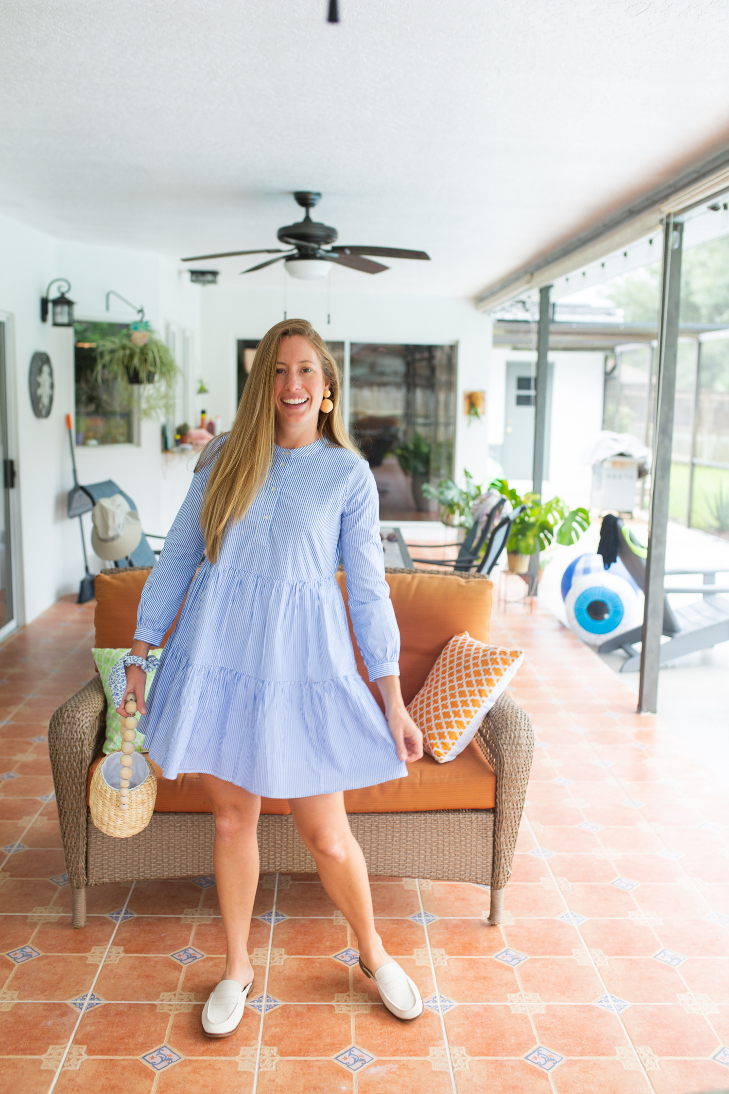 How to Dress Preppy on a Budget / Preppy Women's Outfits / Spring Outfits Preppy / Preppy Outfits Summer / Preppy Essentials / Blue Striped Dress / Where to Buy Preppy Clothes / Second Hand Preppy Clothes -Sunshine Style, A Florida Fashion and Lifestyle Blog