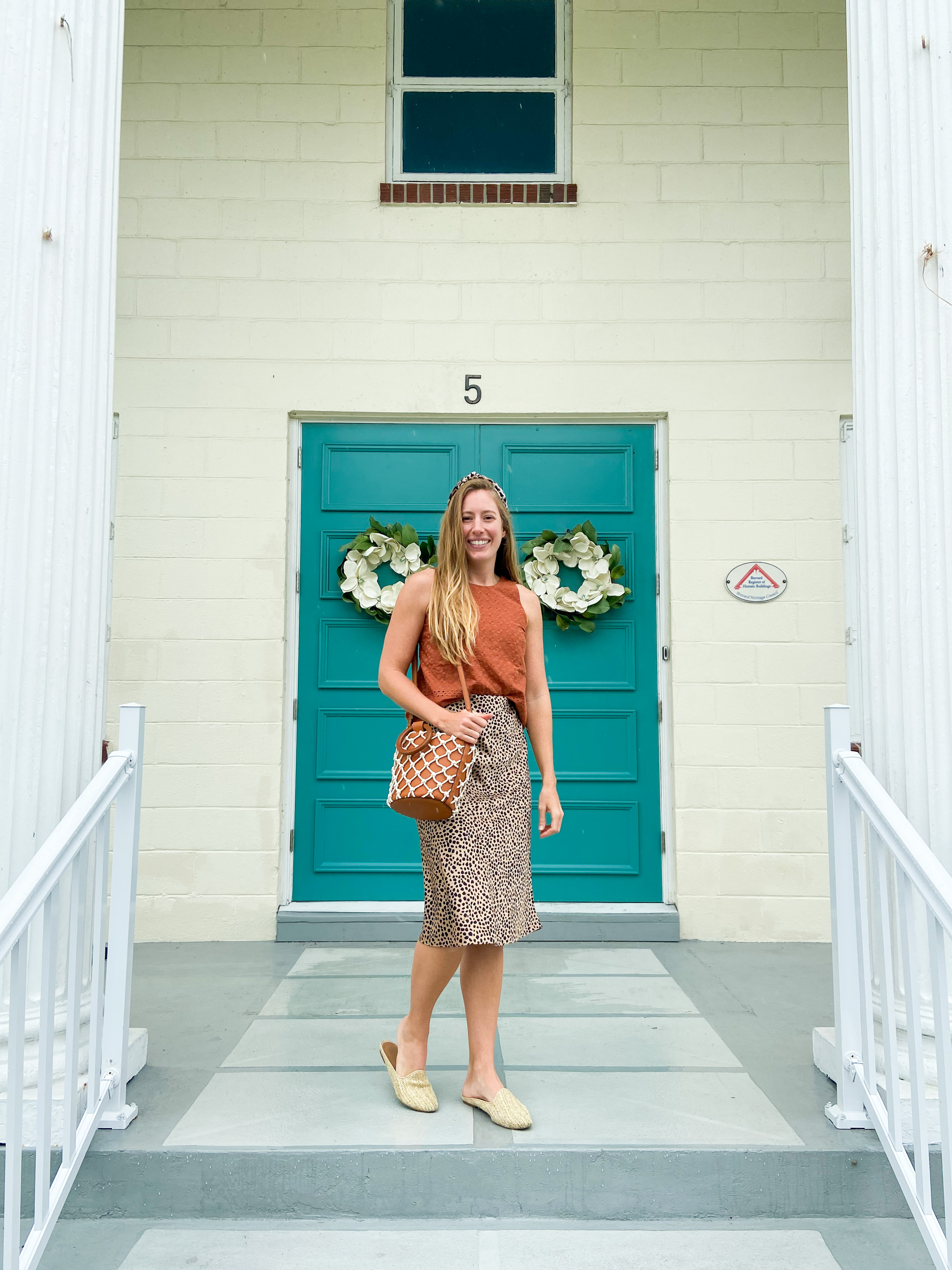 3 Ways to Style a Leopard Skirt for Fall / Warm Weather Fall Outfits / Fall Transition Outfits / Cute Fall Outfits / Modest Winter Outfits / Leopard Skirt Outfit Fall / Autumn Skirt Outfit - Sunshine Style, A Florida Fashion and Lifestyle Blog by Katie