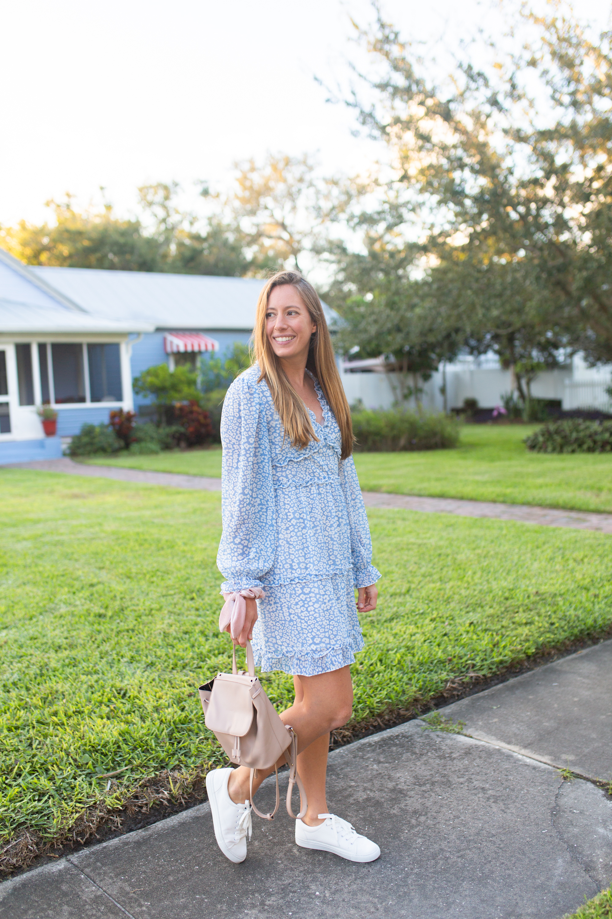 White Sneakers Outfit / Where to Buy the Best White Sneakers / White Sneakers with Dresses / How to Style White Sneakers  / White Sneakers Outfit Winter - Sunshine Style, A Florida Fashion and Lifestyle Blog by Katie