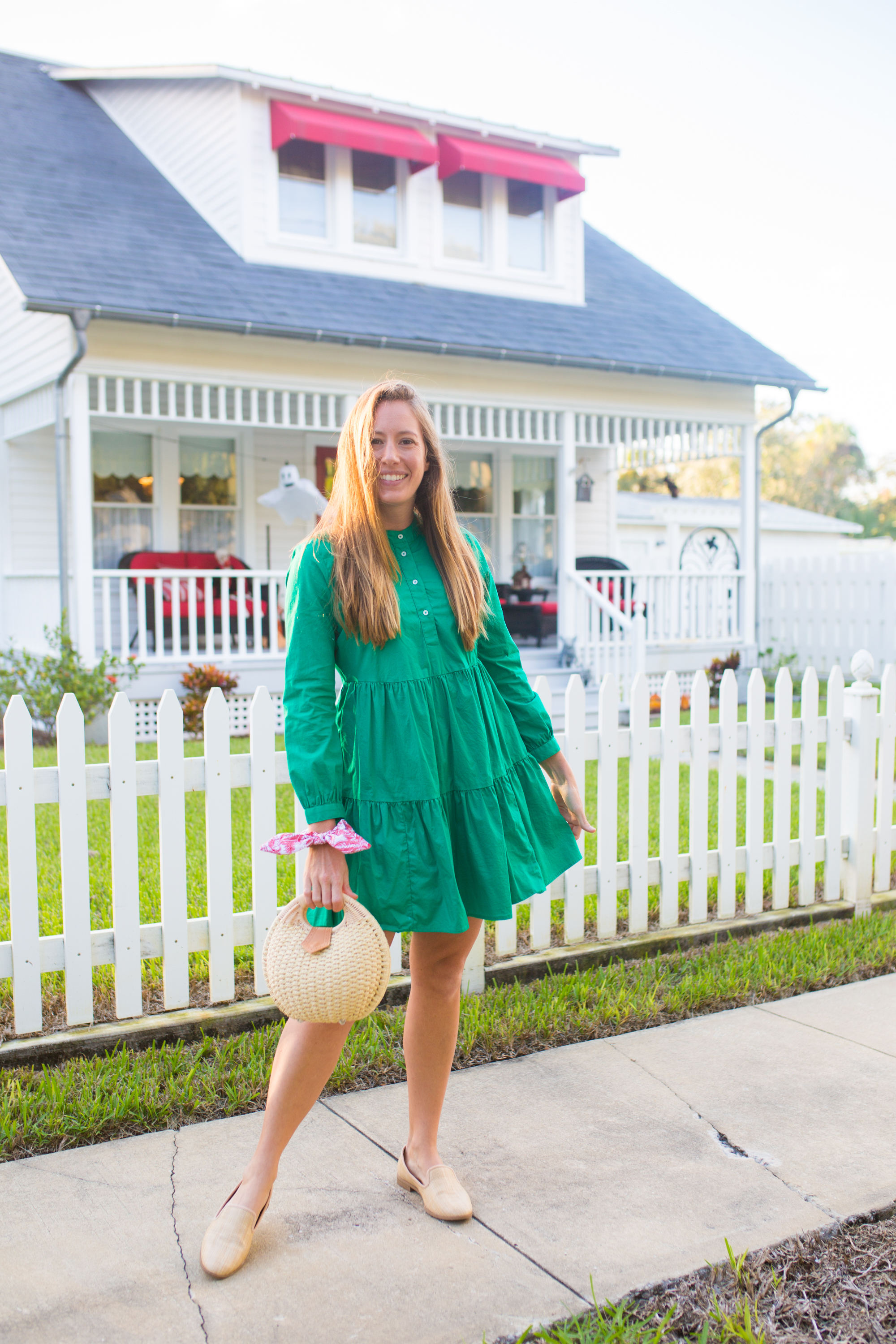 Long Sleeved Green Dresses for Winter / Winter Dress Ideas / Cold Weather Dresses / Cute Winter Dresses / Mini Dress - Sunshine Style, A Florida Based Fashion and Lifestyle Blog