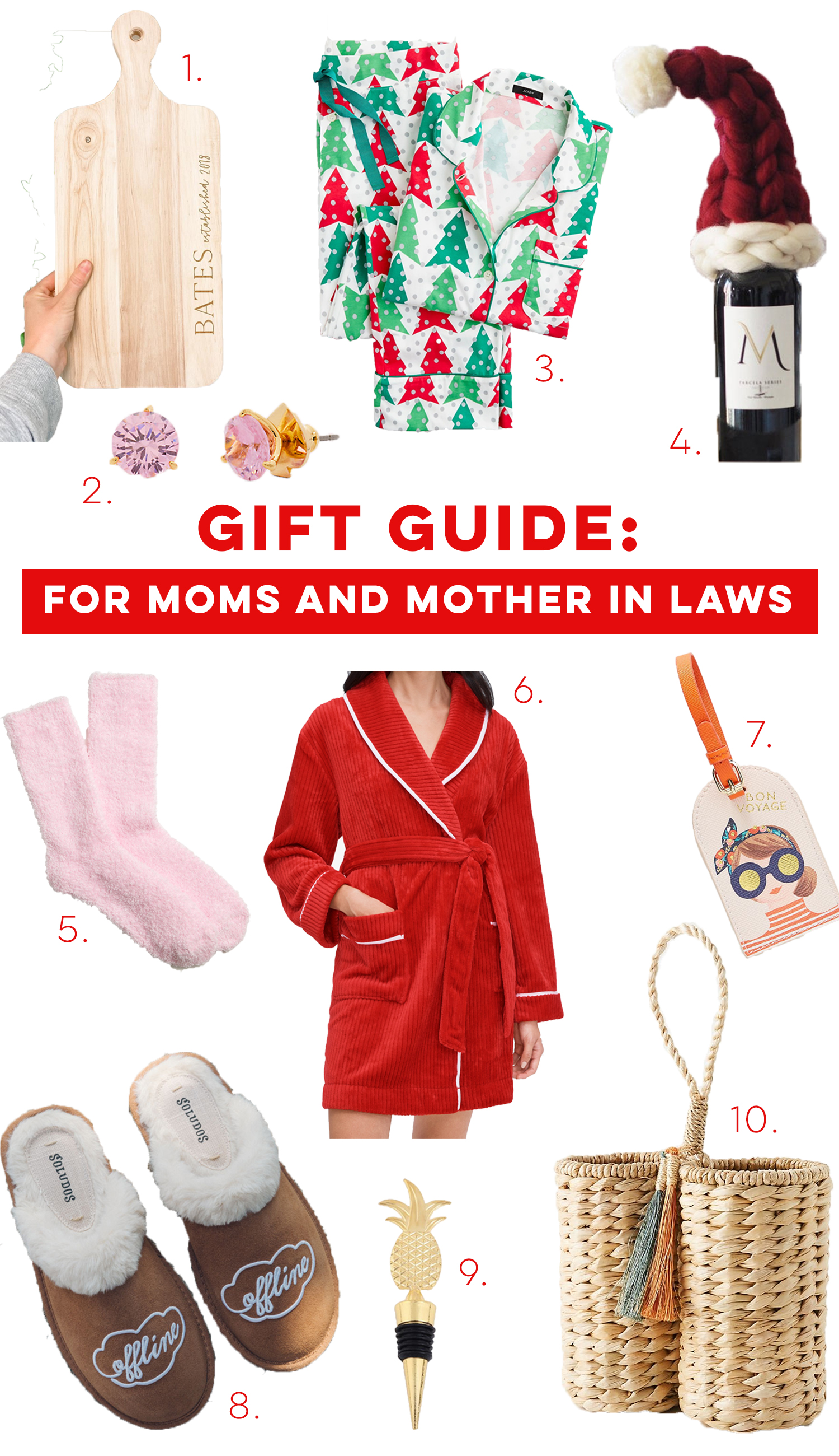 Gift Guide for Moms and Mother in Laws / Mother in Law Gifts / Gifts for Moms / Holiday Gift Guide for Her / Matching Pajama Set - Sunshine Style , A Florida Based Fashion and Lifestyle Blog
