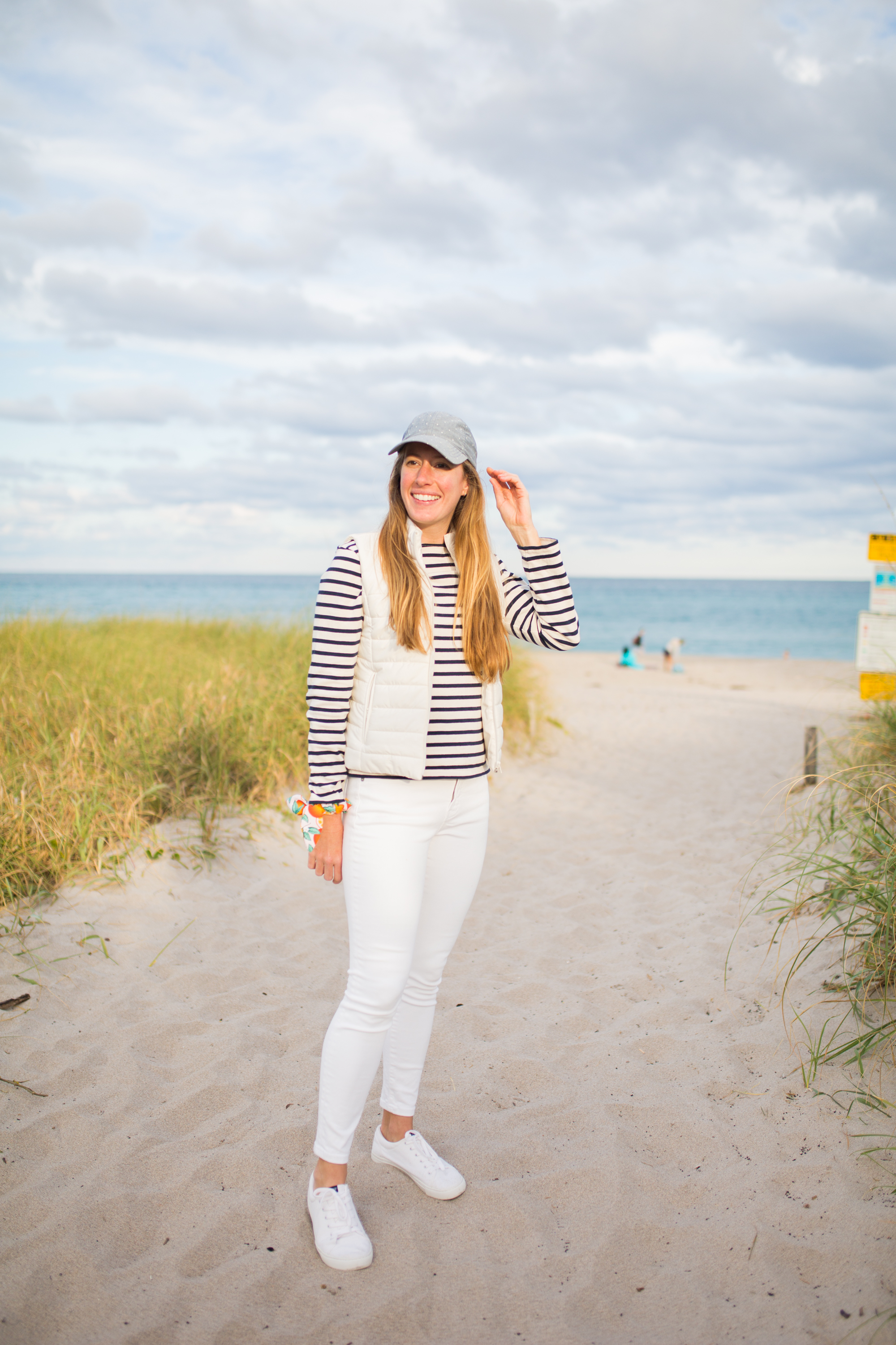 Saint James Breton Striped Shirt / American Style / Classic Style / Casual Outfit / Palm Beach Florida / How to Wear a Striped Top / White Jeans / Beach Style / Beach Outfit - Sunshine Style, A Florida Based Fashion Blog by Katie