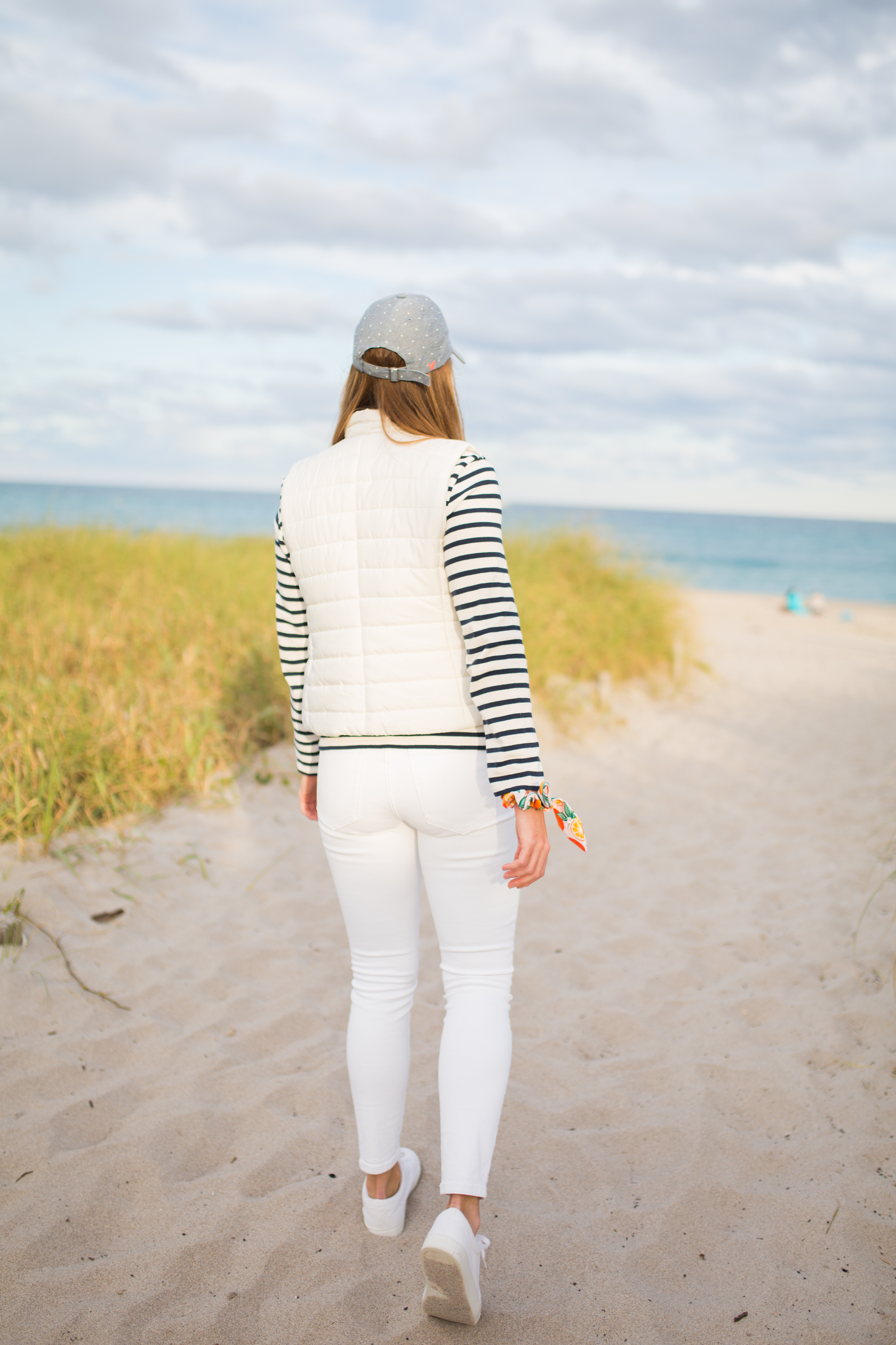 Saint James Breton Striped Shirt / American Style / Classic Style / How to Wear a Striped Top / White Jeans / Beach Style / Beach Outfit - Sunshine Style, A Florida Based Fashion Blog by Katie