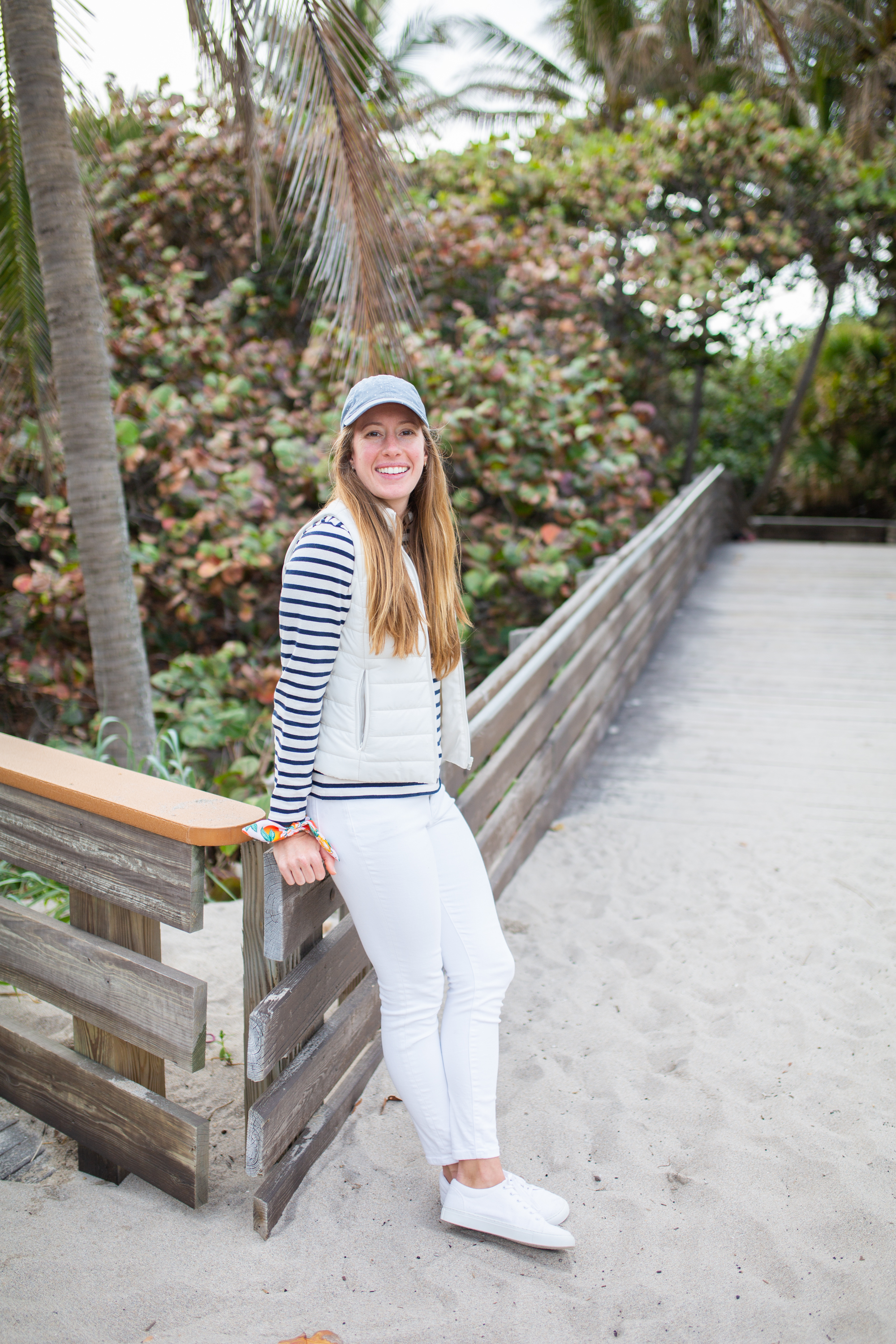 Saint James Breton Striped Shirt / American Style / Classic Style / How to Wear a Striped Top / Casual Outfit / White Jeans / Beach Style / Beach Outfit - Sunshine Style, A Florida Based Fashion Blog by Katie