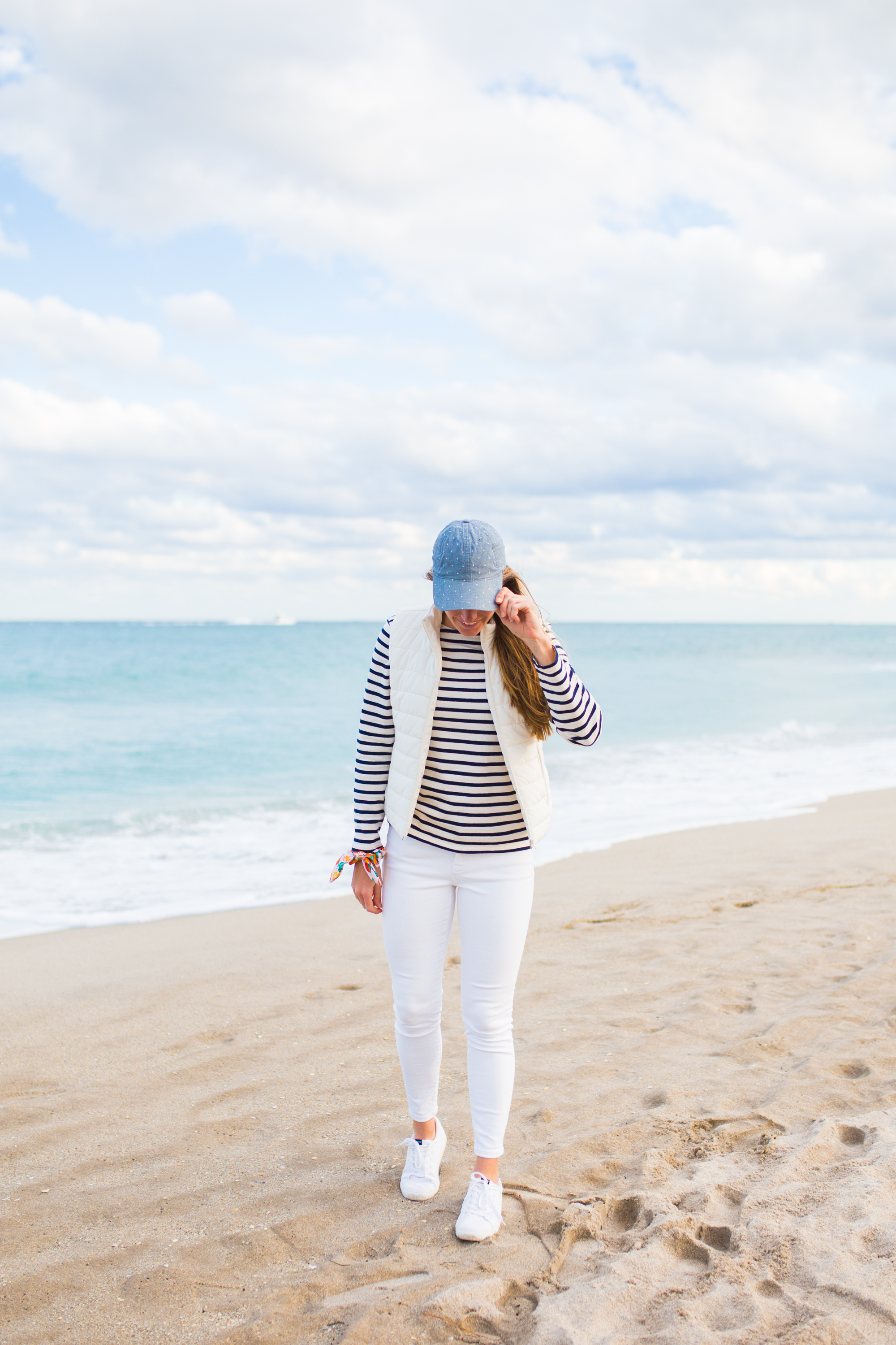 Saint James Breton Striped Shirt / American Style / Classic Style / Casual Outfit / How to Wear a Striped Top / White Jeans / Beach Style / Beach Outfit - Sunshine Style, A Florida Based Fashion Blog by Katie