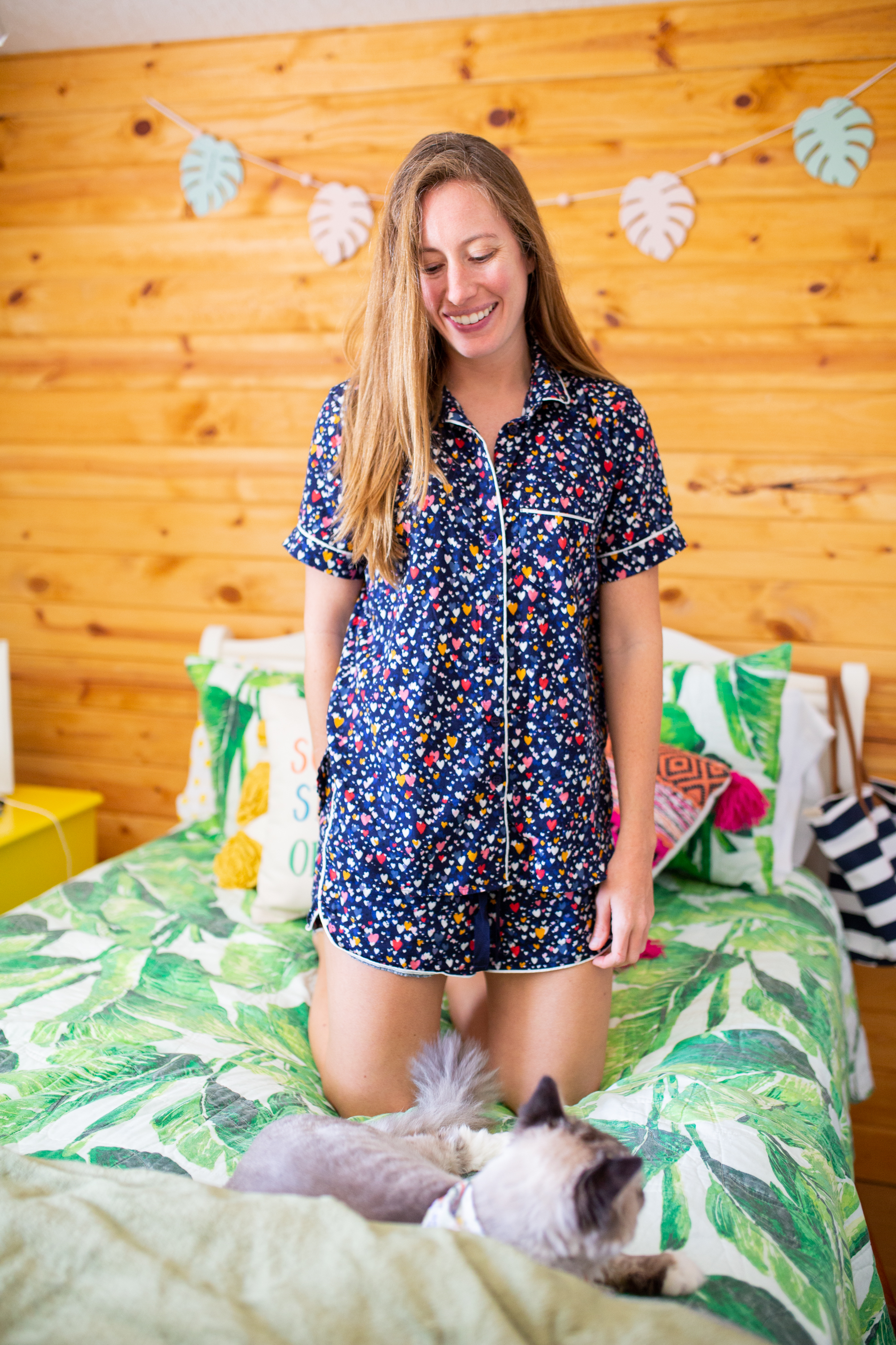 Cozy Matching Pajama Sets / Working from Home / What to Wear At Home / Loungewear - Sunshine Style, A Florida Fashion blog by Katie