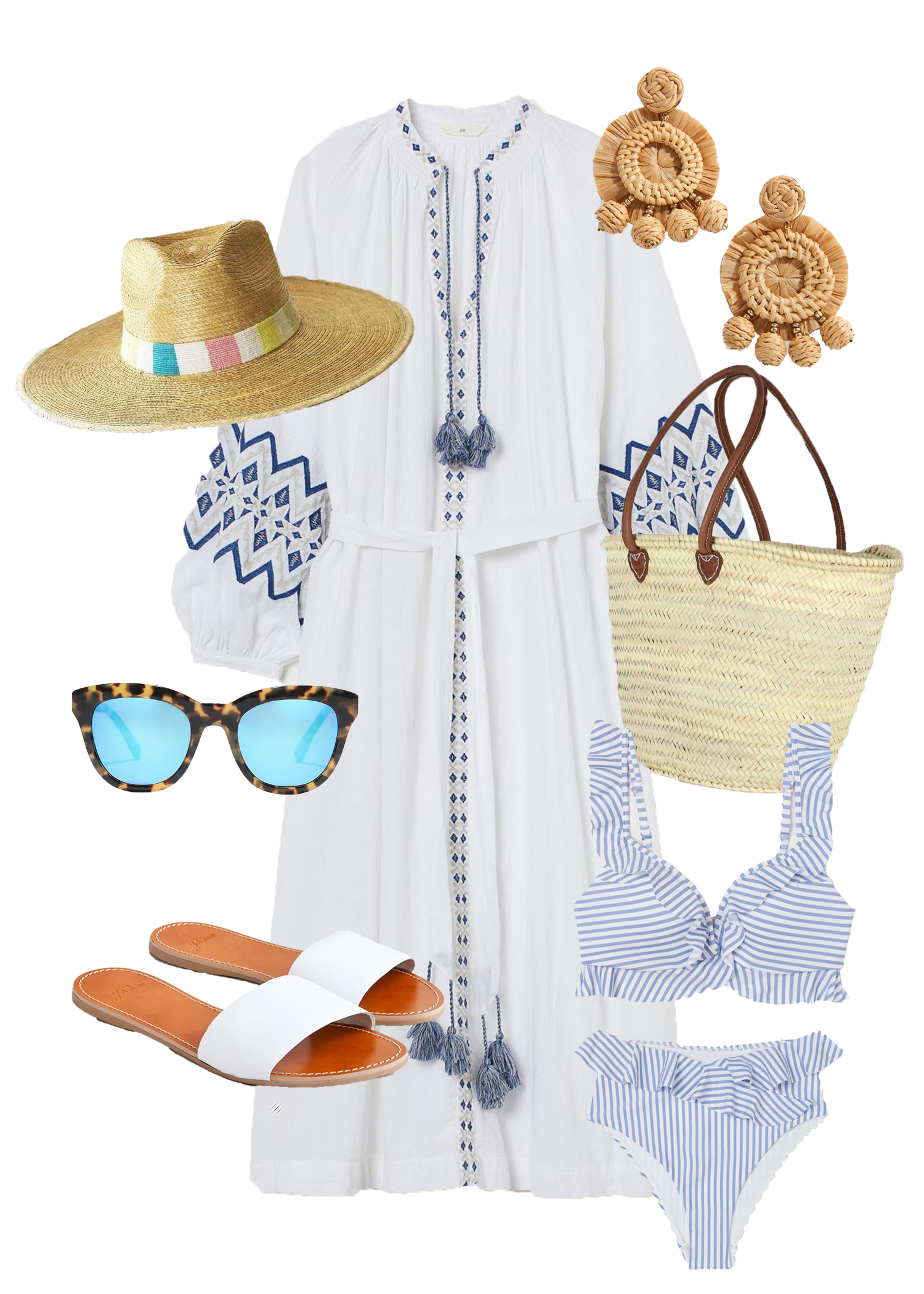 Coastal Style Outfit Collage with Sunshine Style X Blue Bee Designs
