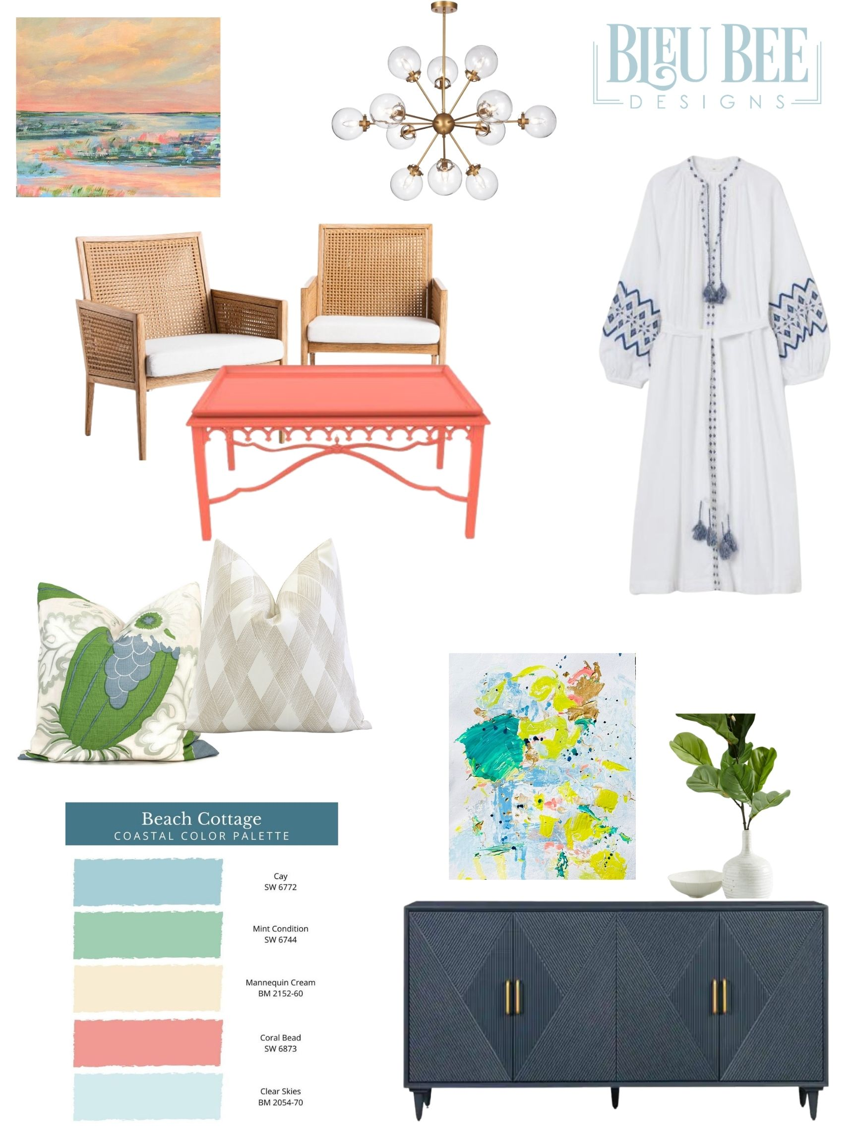 Coastal Style with Sunshine Style X Blue Bee Designs