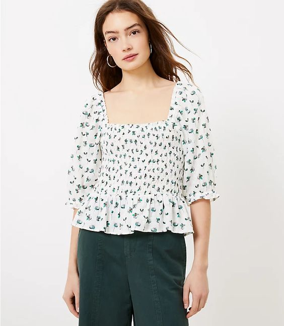 lightweight top with square neck