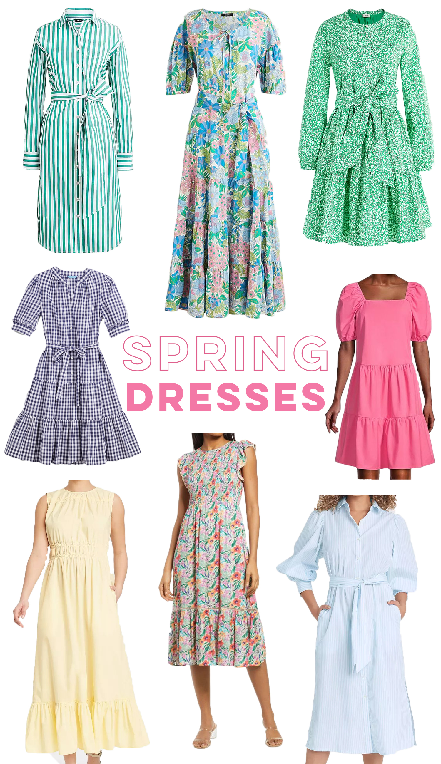 Spring Dresses Under $100 / Floral Spring Dresses / Pastel Dresses / Easter Dress / Gingham Print / Midi Dress / Striped Dress / Preppy Style / Spring Outfit Inspiration - Sunshine Style, A Florida Based Fashion and Lifestyle Blog by Katie