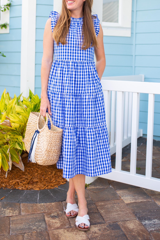 Gingham Summer Dress / BabyDoll Dress / Summer Dress Idea / Casual Summer Outfit / Beach Vacation Outfit /  Gingham Dress / Summer Sundress - Sunshine Style, A Florida Fashion Blog by Katie