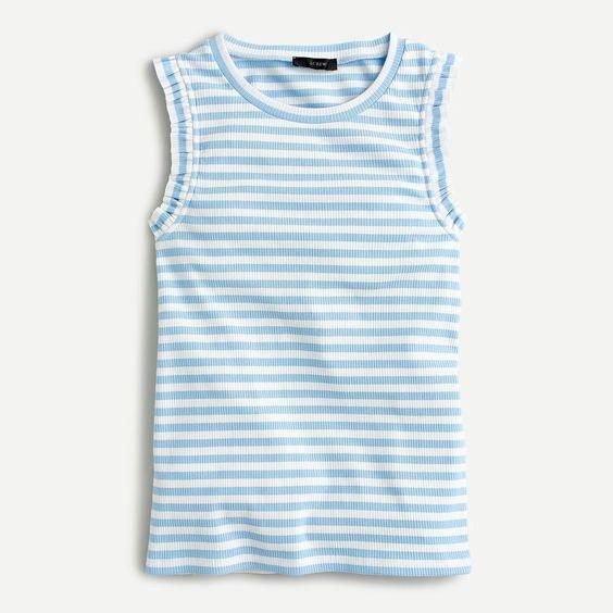blue stripes shirt