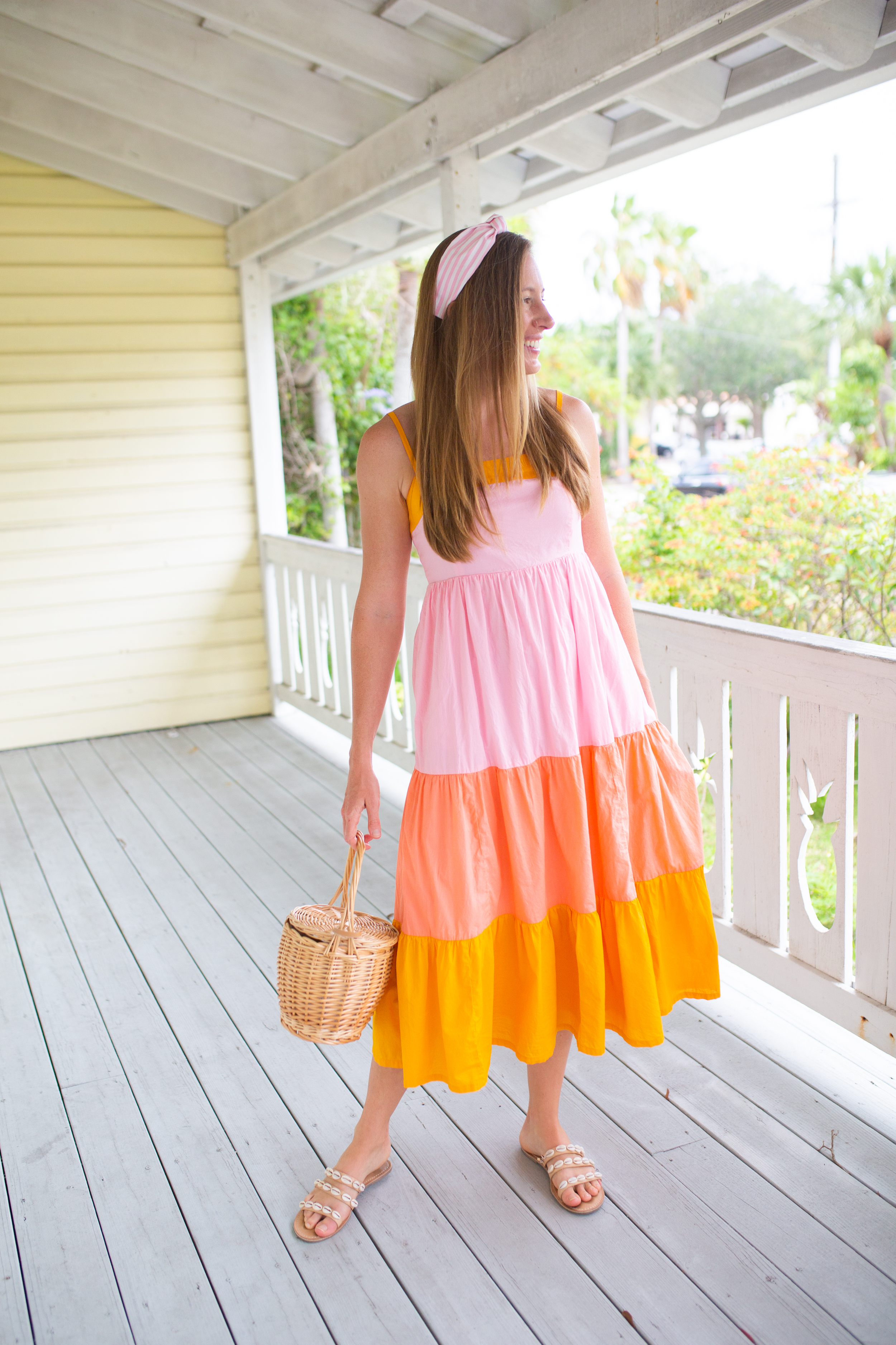 woman wearing pastel colored Sundresses Under $50