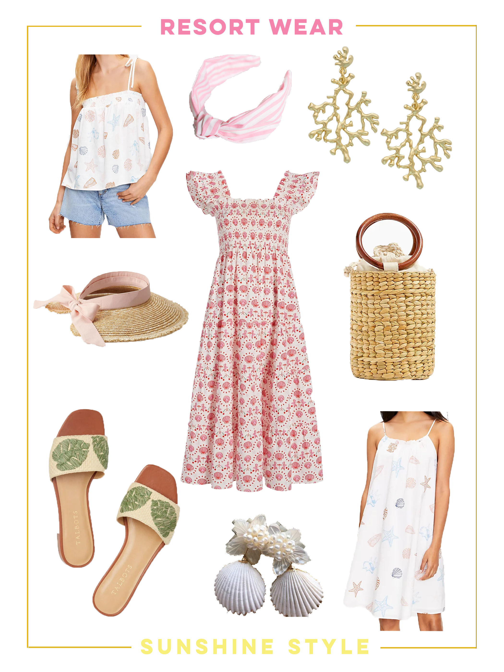 collage of Resort Wear Essentials